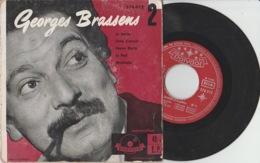 Disque Vinyle 45 Tours—Georges Brassens—N° 2—La Marine—Polydor—1956 - 45 G - Maxi-Single