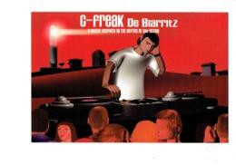 Cpm Illustration Publicité - C-FREAK De BIARRITZ - Musique DJ Platine Vinyle - Phare - - Werbepostkarten