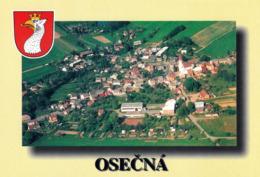 1 AK Tschechien * Blick Auf Die Kleinstadt Osečná (deutsch Oschitz) - Mit Wappen - Luftbildaufnahme * - Tchéquie