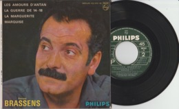 Disque Vinyle 45 Tours—Georges Brassens—Marquise—Philips 432.903 BE—1963 - 45 G - Maxi-Single