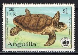 ANGUILLA - 1983 - TARTARUGA - CARETTA CARETTA - USATO - Anguilla (1968-...)