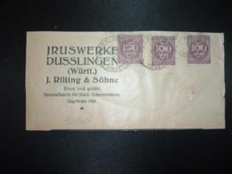 GRAND FRAGMENT TP 100 X3 Perfotés JRS OBL.17 APR 23 DUSSLINGEN + J. RILLING & SOHNE - Deutschland