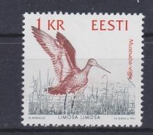 WATER BIRDS VÖGEL OISEAUX Black-tailed Godwit CHNEPFE Bon à Rien Limosa Limosa ESTLAND ESTONIA 1992 MNH MI 189 SLANIA - Gru & Uccelli Trampolieri