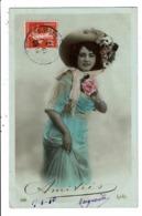 CPA-Carte Postale-France-Amitiés Avec Une Dame Et Son Grand Chapeau En 1910 VM7874 - Fêtes - Voeux