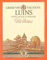étiquette De Vin Suisse Du Pays Vaudois Luins Les Ursins Les Vins Du Pavois - 75 Cl - Vin De Pays D'Oc