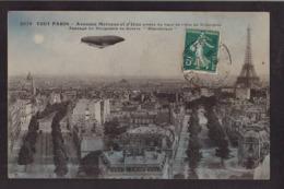 CPA Aviation Dirigeable Ballon Circulé Tout Paris République - Aeronaves