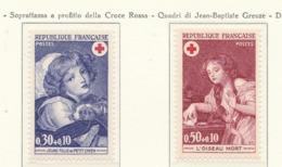 PIA  - FRANCIA  -  1971  : A Profitto Della Croce Rossa -  Quadri Di Jean-Baptiste Greuze   - (Yv  1700-01) - Primo Soccorso