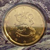===== 20 Cent Finlande 2010 Sorti Du BU (8 Pièces) Mais Légèrement Oxydé ===== - Finland