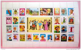 Tintin. Feuille De Timbres. 50ème Anniversaire - Books, Magazines, Comics