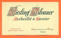 étiquette De Vin Suisse Riesling Silvaner Desbaillet Et Garnier à Peissy Genève - 75 Cl - Vin De Pays D'Oc