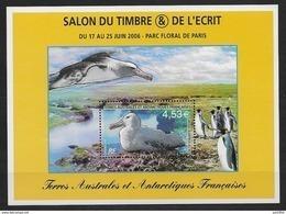 TAAF 2006 Bloc N° 15 Neuf Salon Du Timbre à Paris Avec Oiseau, Albatros - Blocs-feuillets