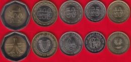 Bahrain Set Of 5 Coins: 10 - 500 Fils 2002 UNC - Bahrein