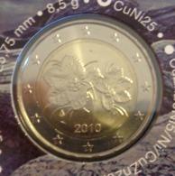 ===== 2 Euros Finlande 2010 Sorti Du BU (8 Pièces) Mais Avec Un Pic Oxydé ===== - Finland