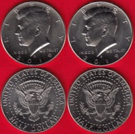 """USA Set Of 2 Halves: 1/2 Dollar 2019 D And P """"Kennedy Half Dollar"""" UNC - Federal Issues"""