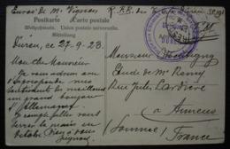 Düren (Allemagne) 1923 Régie Des Chemins De Fer Des Territoires Occupés (S.P. 191) Carte Postale Pour Amiens - Poststempel (Briefe)