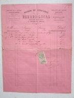 RENARD-LUCAS - HORLOGER DE LA VILLE à Prémery (58) Le 6/01/1897 -Timbre Quittance 10c - Facture à Entête, Lettre Signée - Old Professions