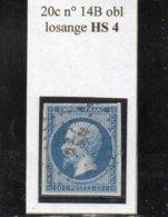 Paris - N° 14B Obl Losange HS 4 - 1853-1860 Napoléon III