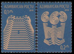 2018Azerbaijan 1365-1366Standard Edition. Architecture - Aserbaidschan