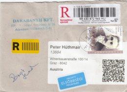 Ungarn - Eingeschriebener Brief  - Gardonyi Geza - Schriftsteller - Briefe U. Dokumente