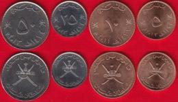 Oman Set Of 4 Coins: 5 - 50 Baisa (fils) 2011-2013 UNC - Omán
