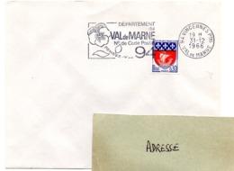 VAL De MARNE - Dépt N° 94 VINCENNES Ppal 1966 = FLAMME Codée = SECAP  ' N° De CODE POSTAL / PENSEZ-Y ' - Postleitzahl
