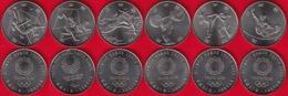 """Japan Set Of 6 Coins: 100 Yen 2019 """"Tokyo 2020"""" UNC - Japan"""
