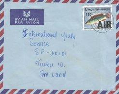 Guyana 1983 Inmore Sunfish Ranzania Laevis 1c Overprint 110 AIR Scott 377 Cover - Fische
