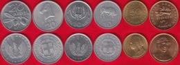 Greece Set Of 6 Coins: 10 - 50 Lepta, 2 Drachmes 1973-1990 UNC - Griekenland