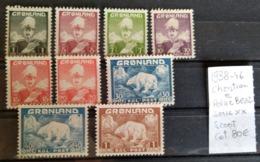 GROENLANDIA 1938-46 SERIE NUOVA MNH** - Groenland
