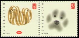 2018Azerbaijan 1369-1370PaarYear Of The Dog - Aserbaidschan