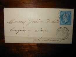 Lettre GC 3624 Saint Georges D'Oleron Charente Inferieure Avec Correspondance - 1849-1876: Période Classique