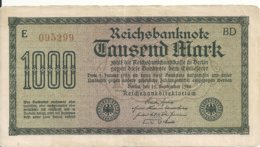 ALLEMAGNE 1000 MARK 1922 VF P 76 - [ 3] 1918-1933 : Repubblica  Di Weimar