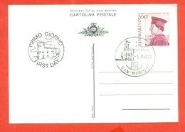 INTERI POSTALI - C. 54 - FEDERICO DA MONTEFELTRO - Ganzsachen