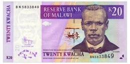 MALAWI 20 KWACHA 2009 Pick 52d Unc - Malawi