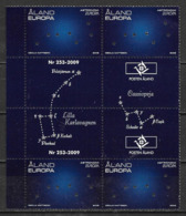 Aland 2009 N°310 Neuf En Bloc De 4 Gutter Pair Europa Astronomie - Ålandinseln