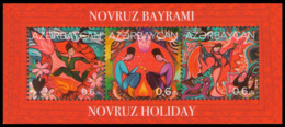 2018Azerbaijan 1371-73/B201Novruz Holiday - Aserbaidschan