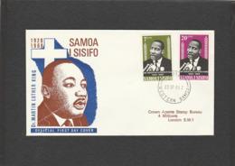 Martin Luther King - FDC Samoa 1968 - Prix Nobel De La Paix - Martin Luther King