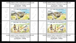 1994 Cipro Turca Turkish Cyprus EUROPA CEPT EUROPE 2 Foglietti MNH** 2 Souv. Sheets - Europa-CEPT