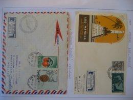 Israel- Erstflug Lod - Manila, Erstflug Amsterdam - Tripolis - Poste Aérienne