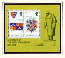 CAYMAN ISLANDS - 1974 Churchill Miniature Sheet Unmounted/Never Hinged Mint - Cayman Islands