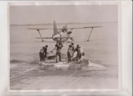 SCHNEIDER TROPHY RACE CALSHOT AGAINST FRANCE AND ITALY BRITAIN    25*20CM Fonds Victor FORBIN 1864-1947 - Aviation