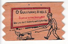 Very Thick Wood Post Card - Carte En Bois épaisse - O Gullivan's Heels - 2 Scans - Other
