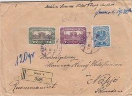 Austria - 1921  Schwerer Eingeschriebener Brief - 120 Gramm - Briefe U. Dokumente