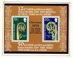 CAYMAN ISLANDS - 1975 Christmas Miniature Sheet Unmounted/Never Hinged Mint - Cayman Islands