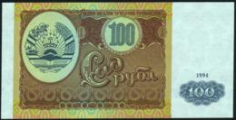 TAJIKISTAN - 100 Rubles 1994 {Bonki Millii Chumhurii Tochikiston} UNC P.6 - Tadschikistan