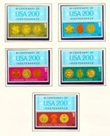 CAYMAN ISLANDS - 1976 American Revolution Set Unmounted/Never Hinged Mint - Cayman Islands