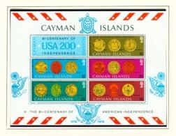 CAYMAN ISLANDS - 1976 American Revolution Miniature Sheet Unmounted/Never Hinged Mint - Cayman Islands
