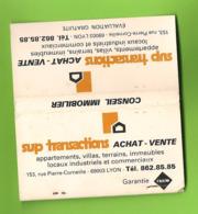 Pochette D'allumettes - Sup Transactions. Achat-vente. Conseil Immobilier - Matchboxes