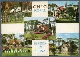 °°° Cartolina - C.h.i.o.roma Piazza Di Siena Nuova °°° - Stadien & Sportanlagen