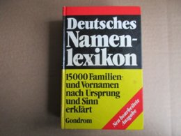 Deutsches Namenlexikon (Hans Bahlow) éditions De 1967 - Wörterbücher